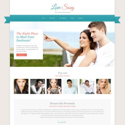 17 best dating website templates. Black Bedroom Furniture Sets. Home Design Ideas