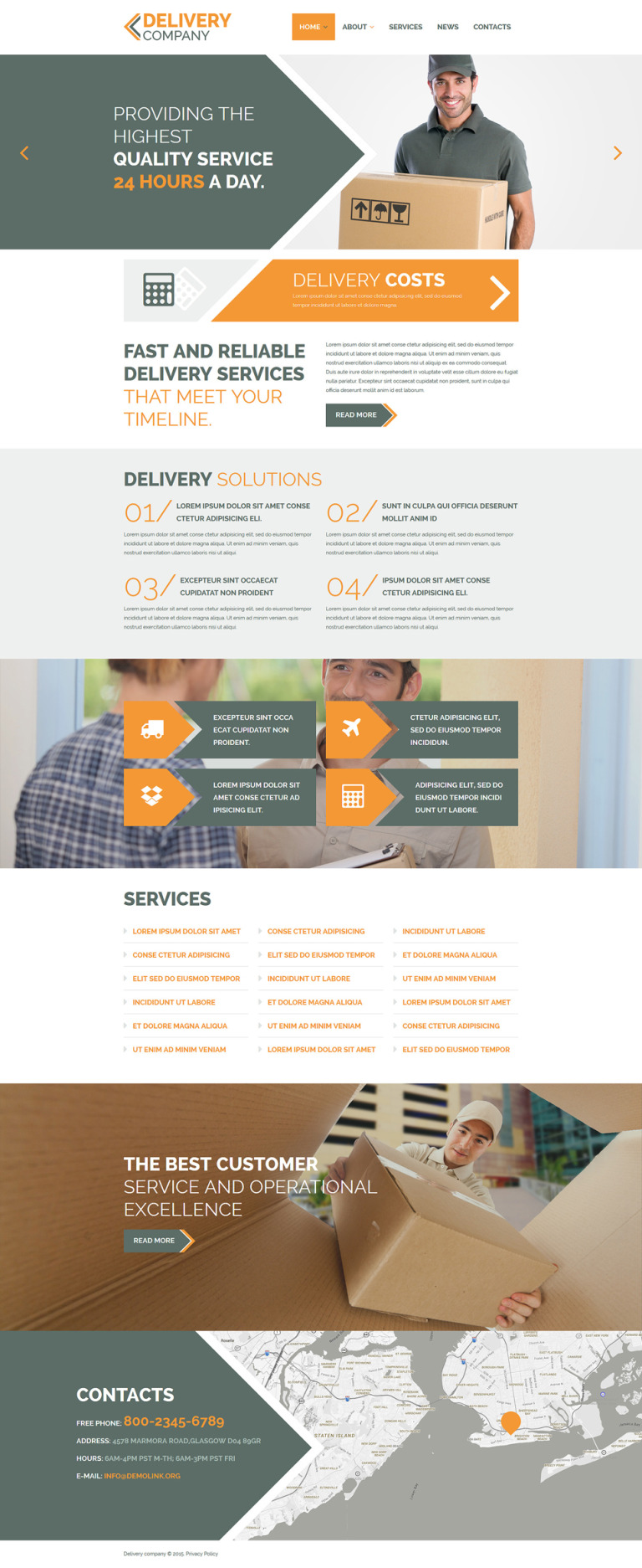 Delivery Company Joomla Template New Screenshots BIG