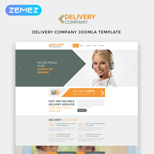 Delivery Company - Joomla! Template based on Bootstrap