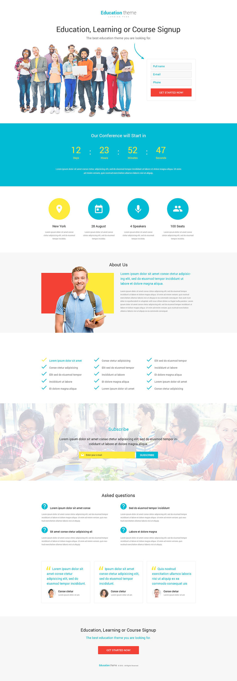 Education Responsive Landing Page Template New Screenshots BIG