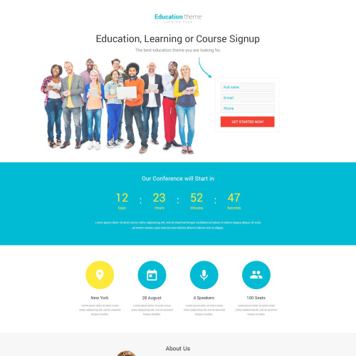 Education Theme - Responsive Landing Page Template