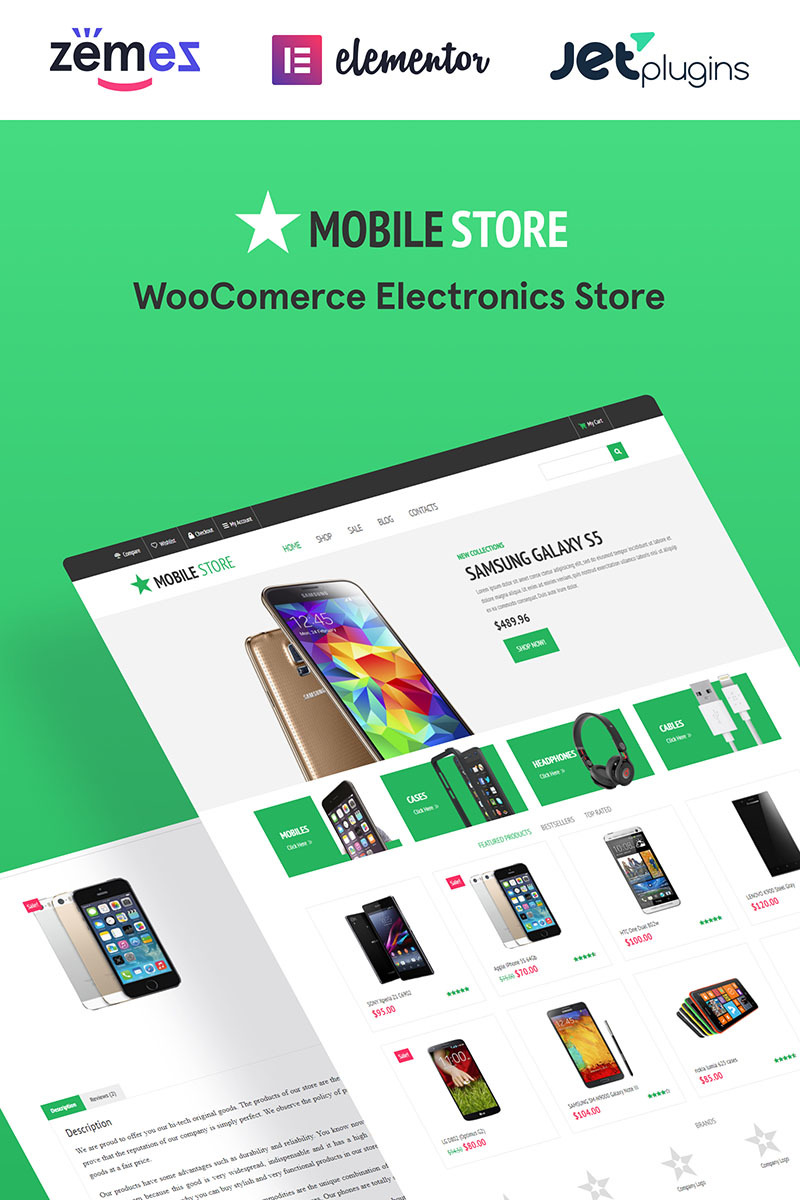 Cell Phone Company Woocommerce Themes Unlimited Stock