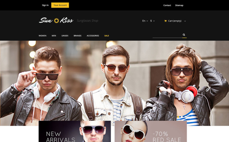 Exclusive Sunglasses PrestaShop Theme