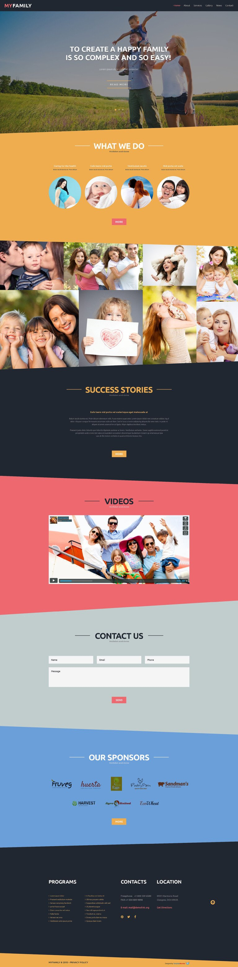 Family Center Free Joomla Template Joomla Template New Screenshots BIG