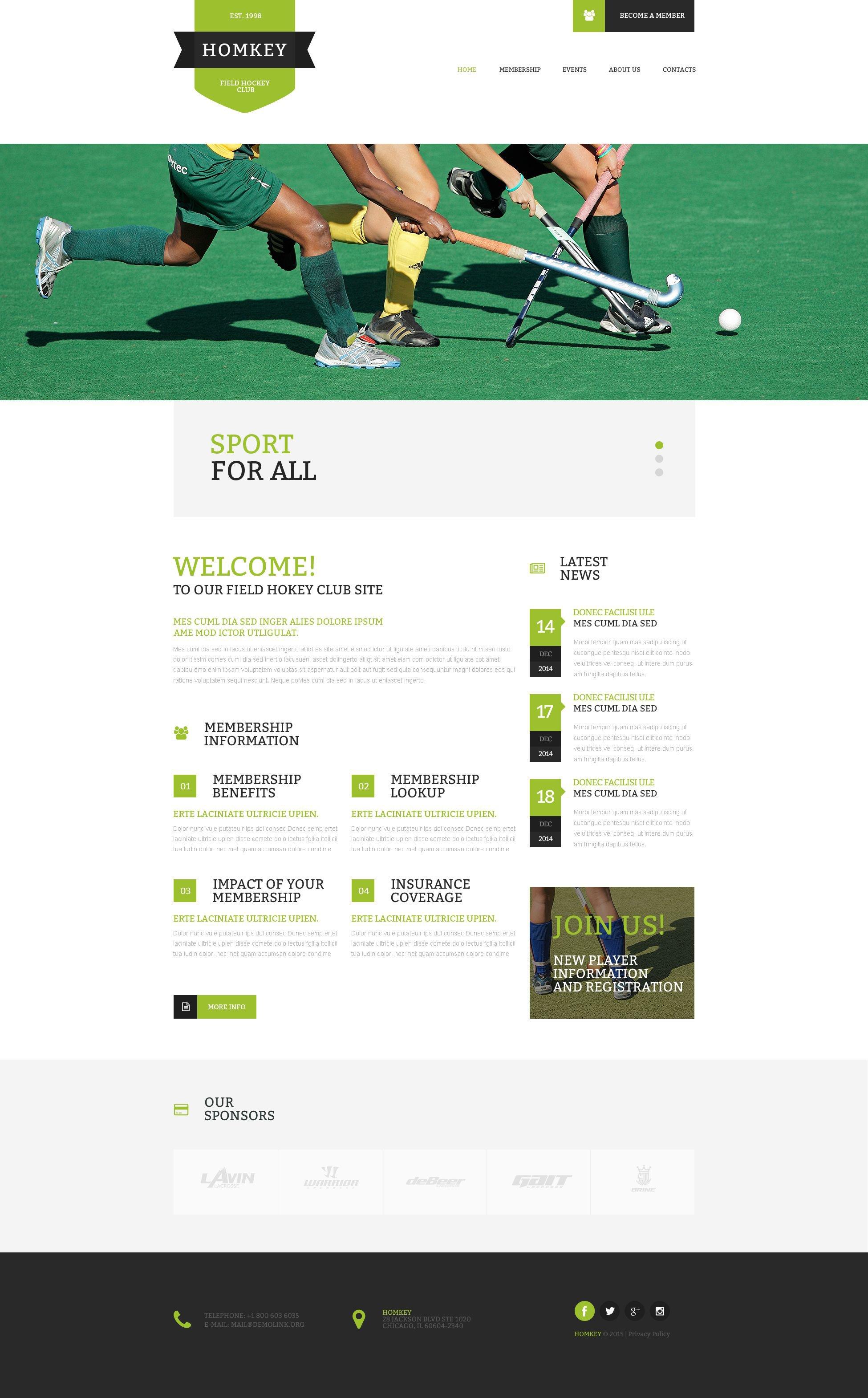 Field hockey website template yadclub Images