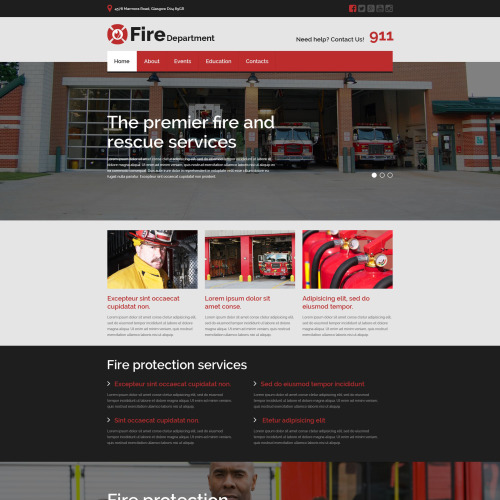 Fire Department - Website Template based on Bootstrap