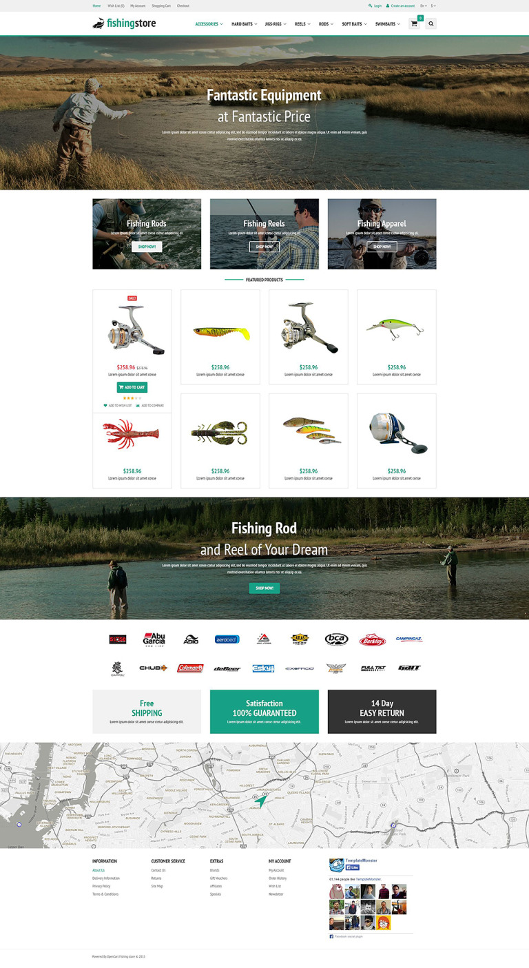 Fishing Supplies OpenCart Template New Screenshots BIG