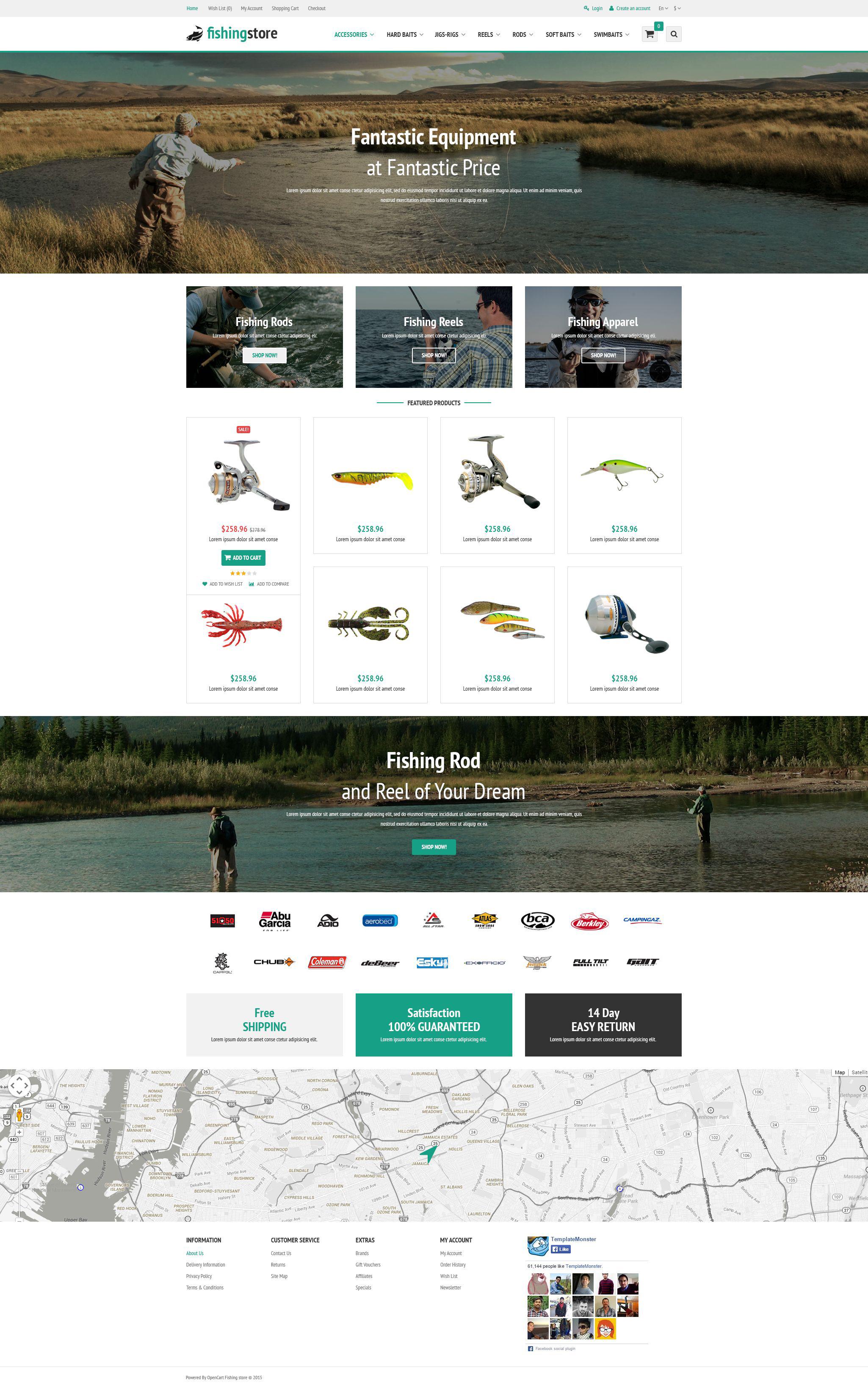 Fishing Supplies OpenCart Template