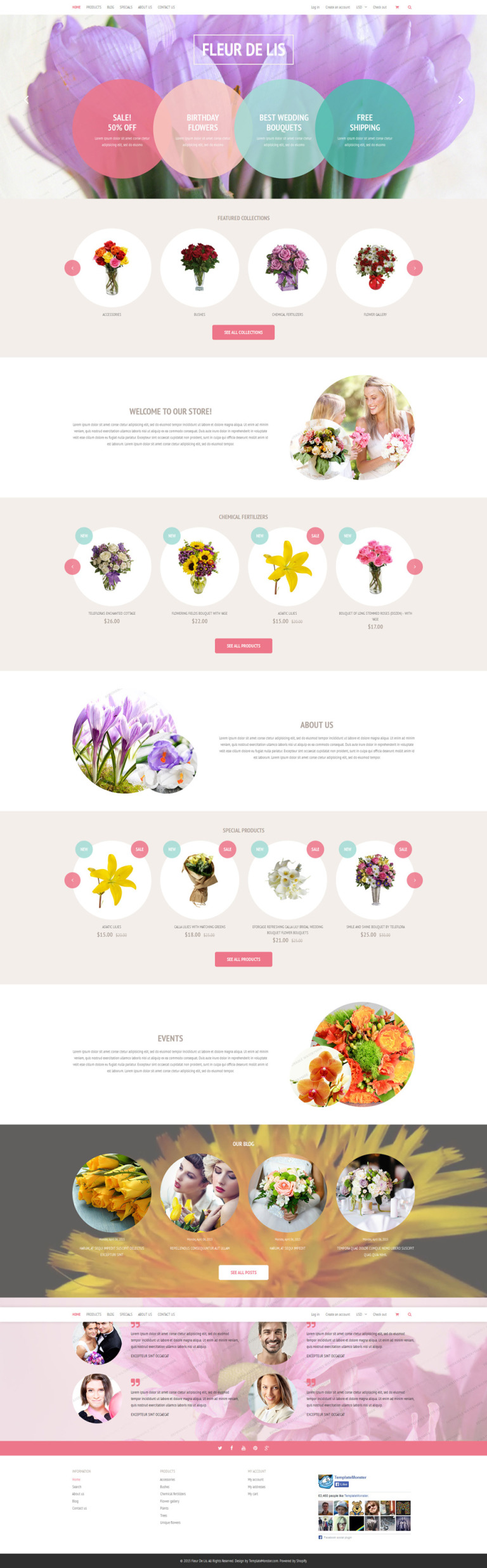 Fleur de lis Shopify Theme Shopify Theme New Screenshots BIG