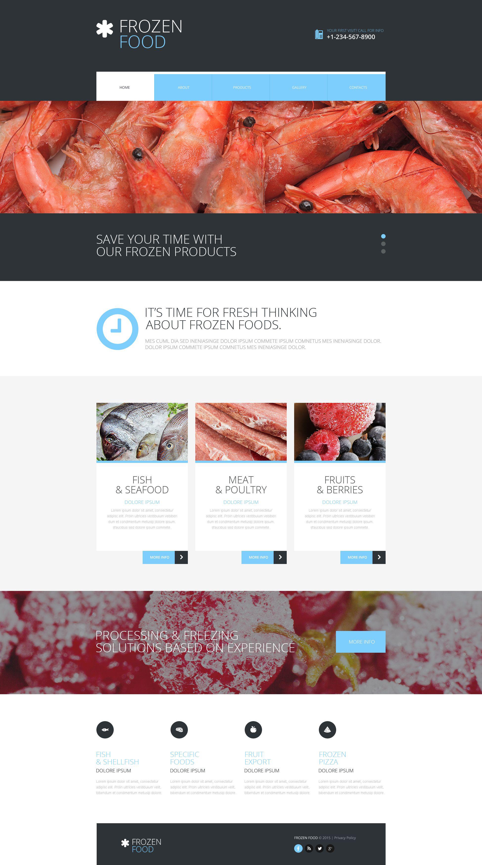 Frozen food website template pronofoot35fo Gallery