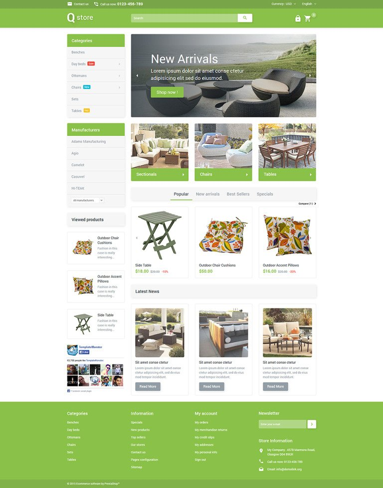 Garden Furniture PrestaShop Theme New Screenshots BIG