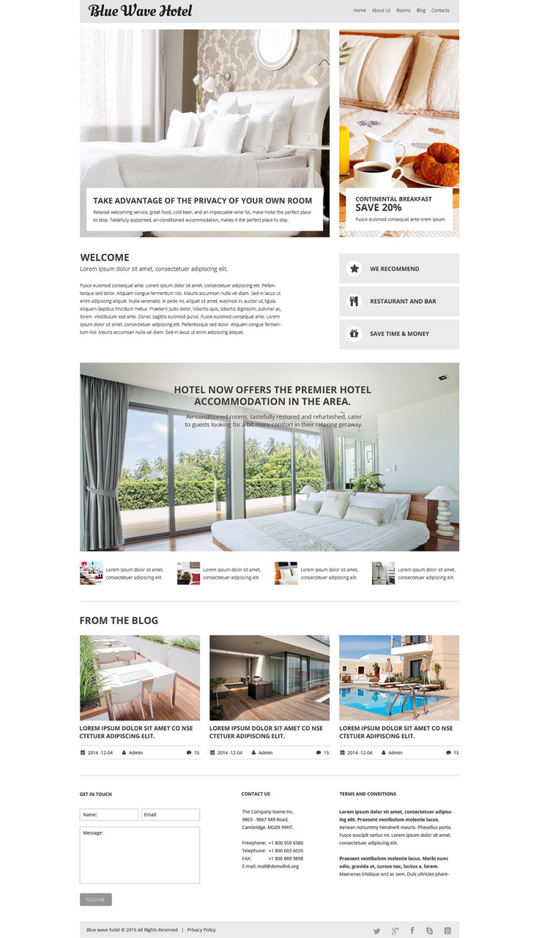 Hotels Responsive Joomla Template New Screenshots BIG