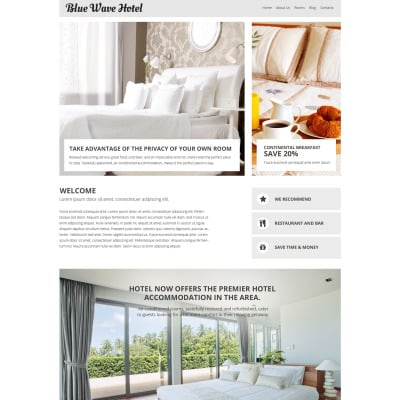 Hotels responsive joomla themes for Joomla hotel template