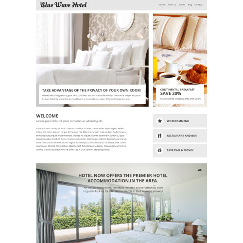 Blue Wave Hotel - Responsive Joomla! Template