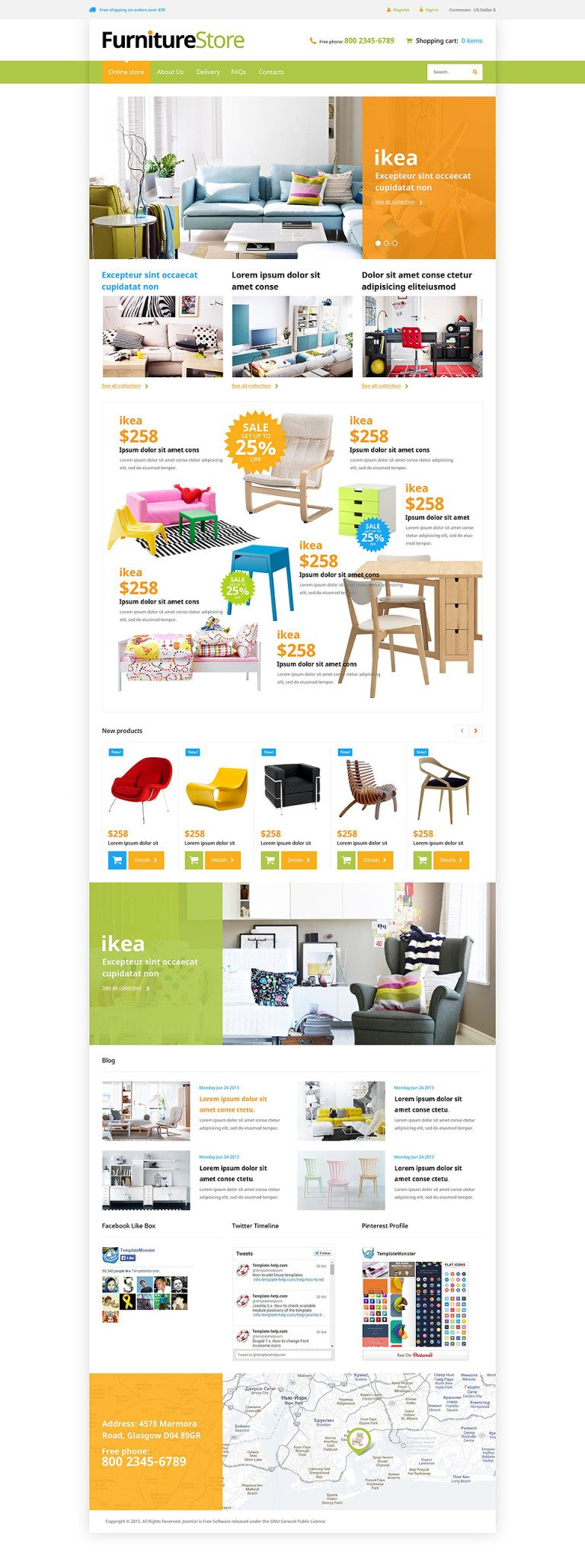 Interior Furniture VirtueMart Template New Screenshots BIG