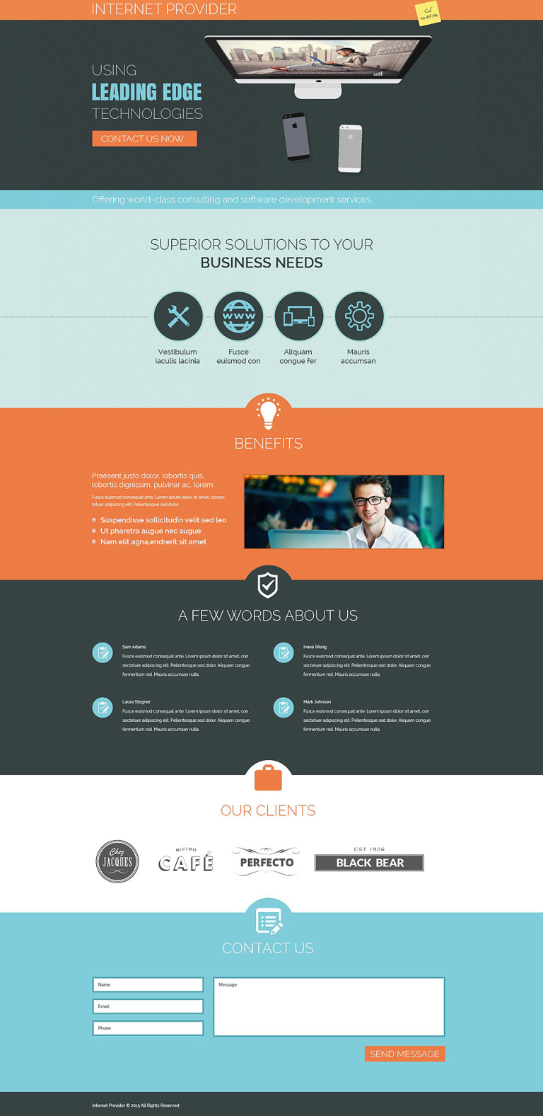 ISP Responsive Landing Page Template New Screenshots BIG