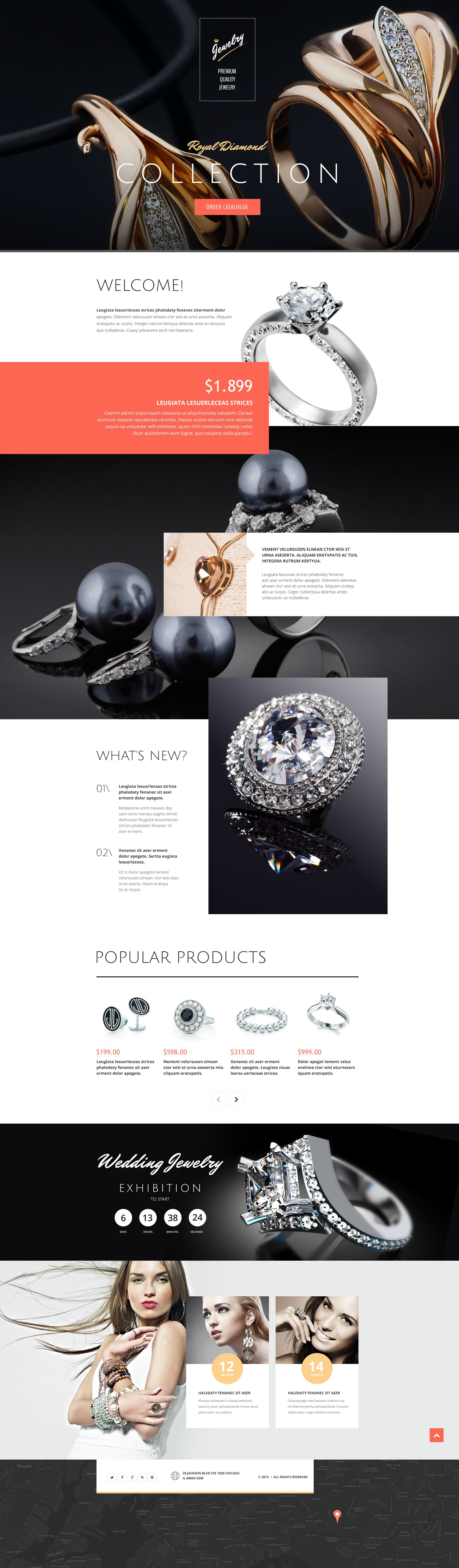 Jewelry Responsive Landing Page Template