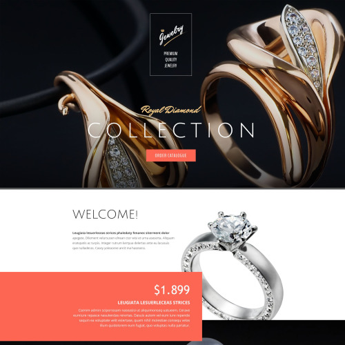 Jewelry - Responsive Landing Page Template