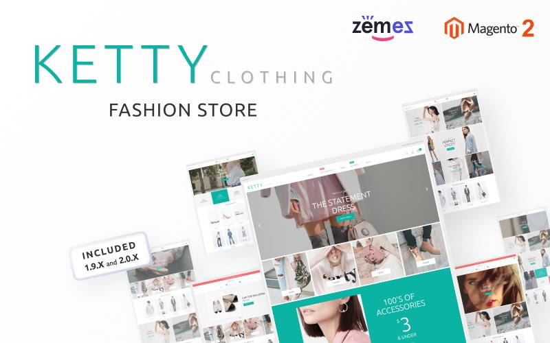 """Ketty - Fashion Store"" - адаптивний Magento шаблон №53638"