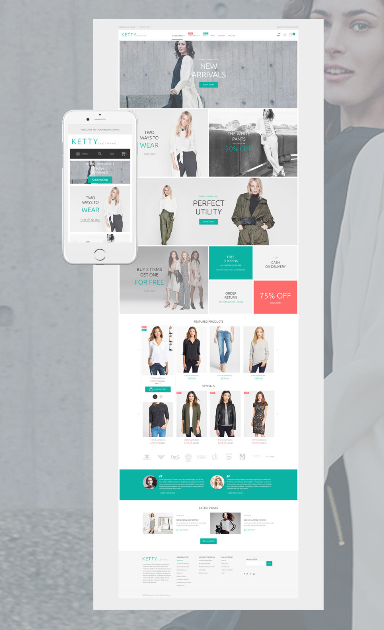 Ketty - Fashion Store Magento Theme New Screenshots BIG