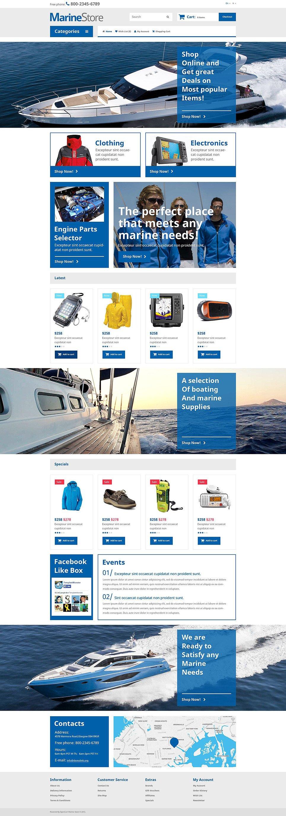 Marine Store OpenCart Template New Screenshots BIG