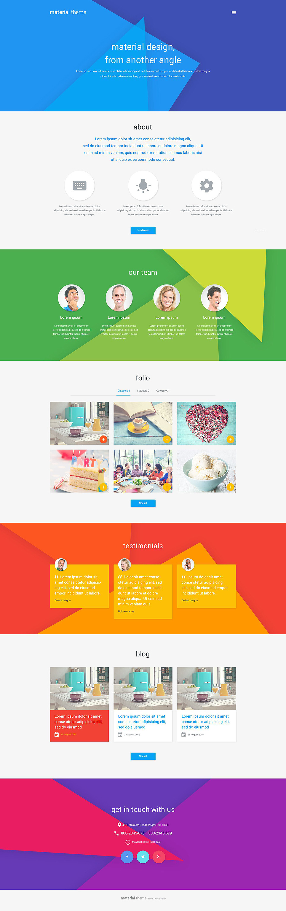 Material Design Portfolio WordPress Theme New Screenshots BIG