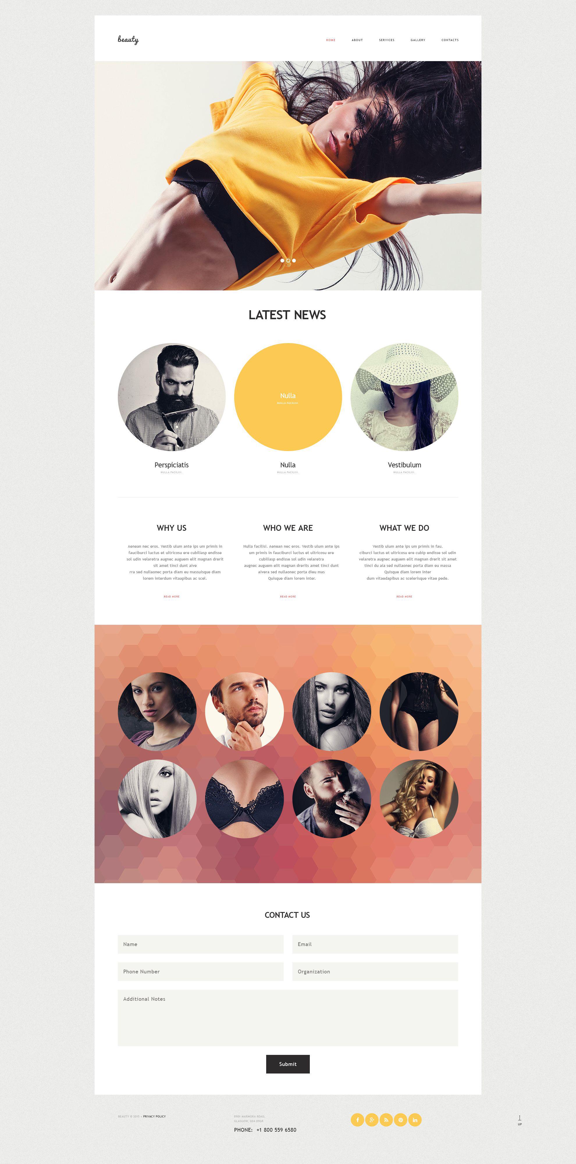 模特公司Muse 模板 #53678