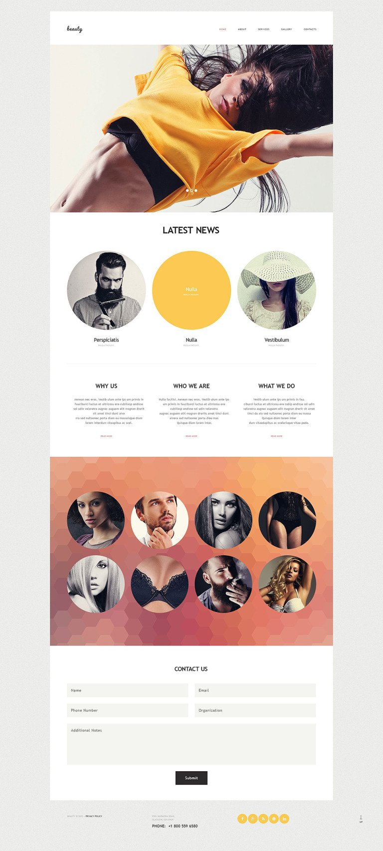 Model Agency Muse Template New Screenshots BIG