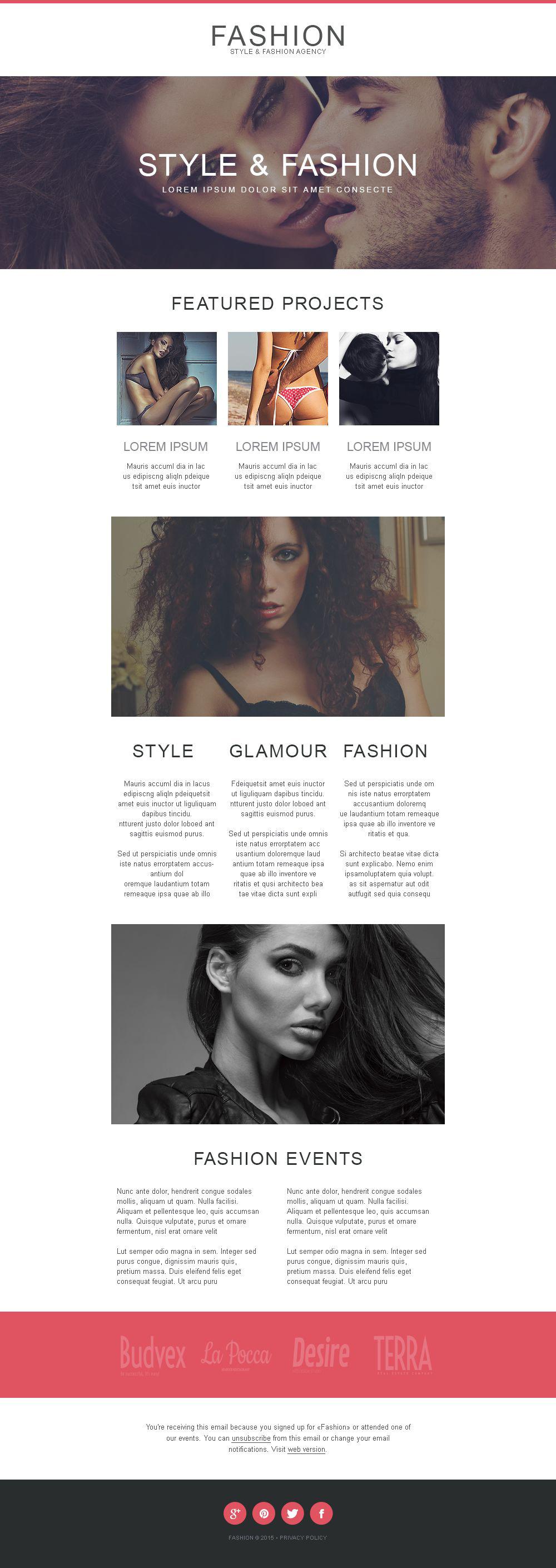 Model Agency Responsive Newsletter Template