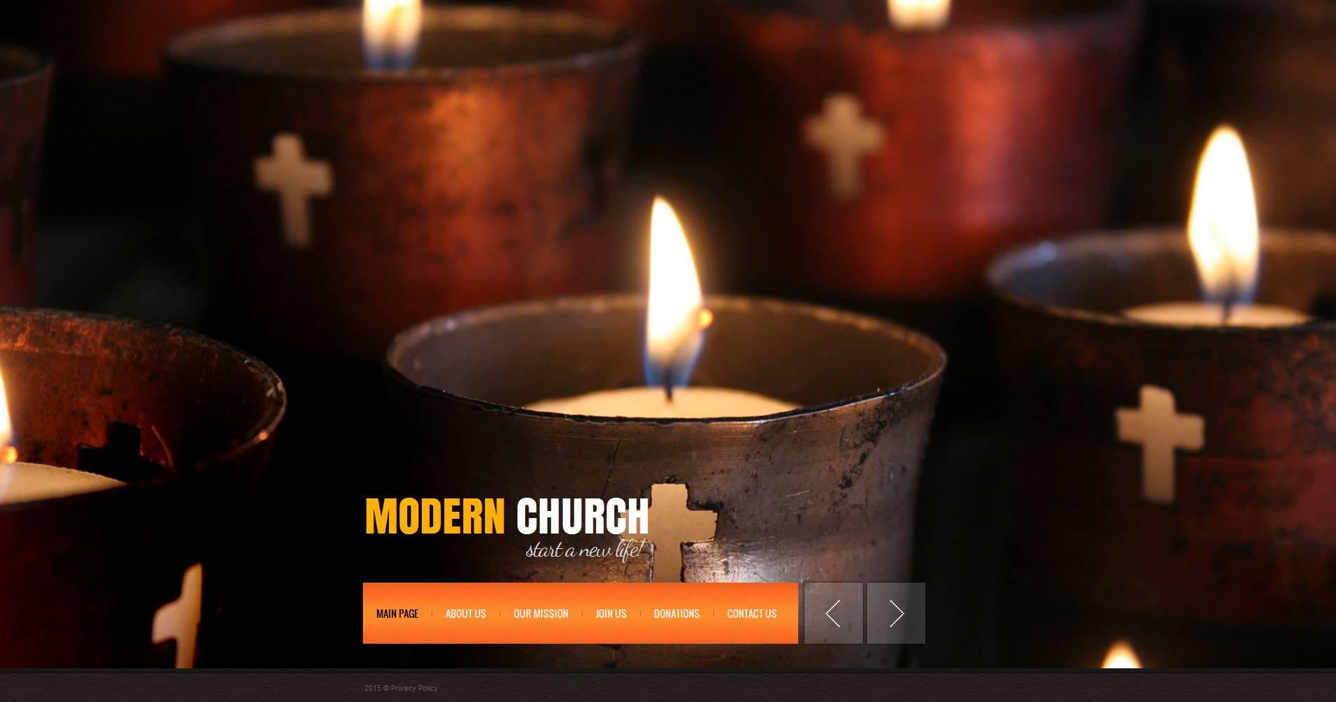 Modèle Moto CMS HTML Premium pour site religieux #53620