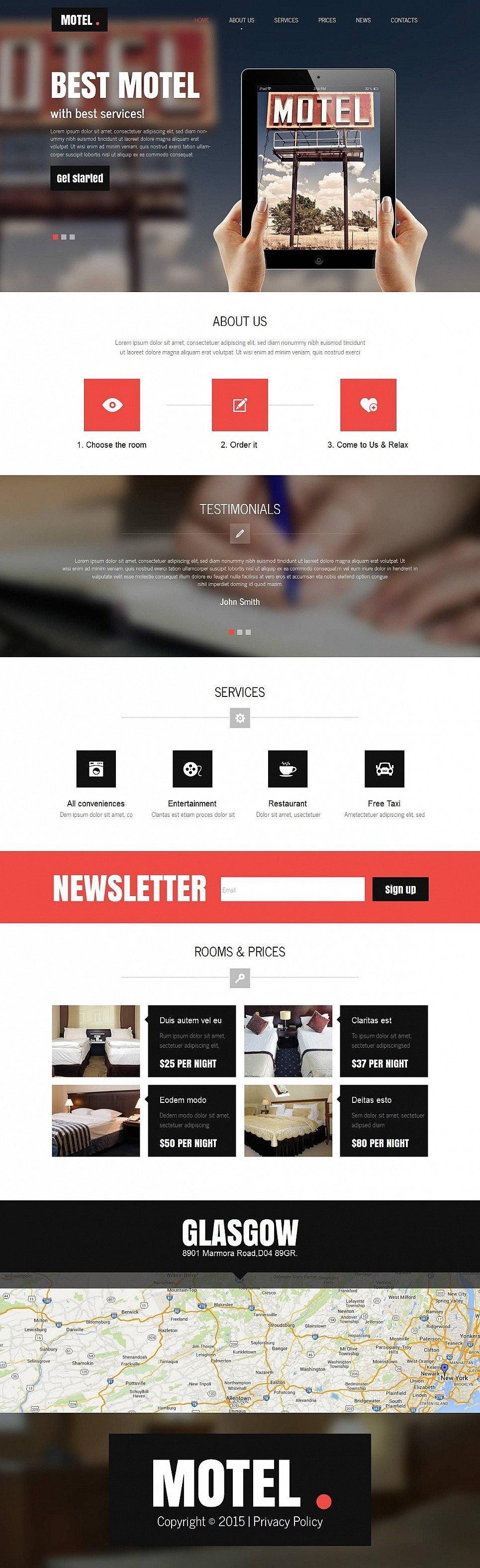 Motel Moto CMS HTML Template New Screenshots BIG