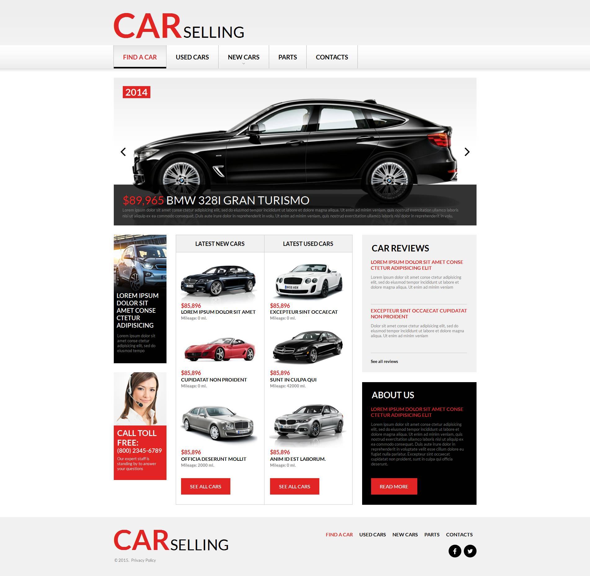 MotoCMS HTML шаблон №53633 на тему прокат авто