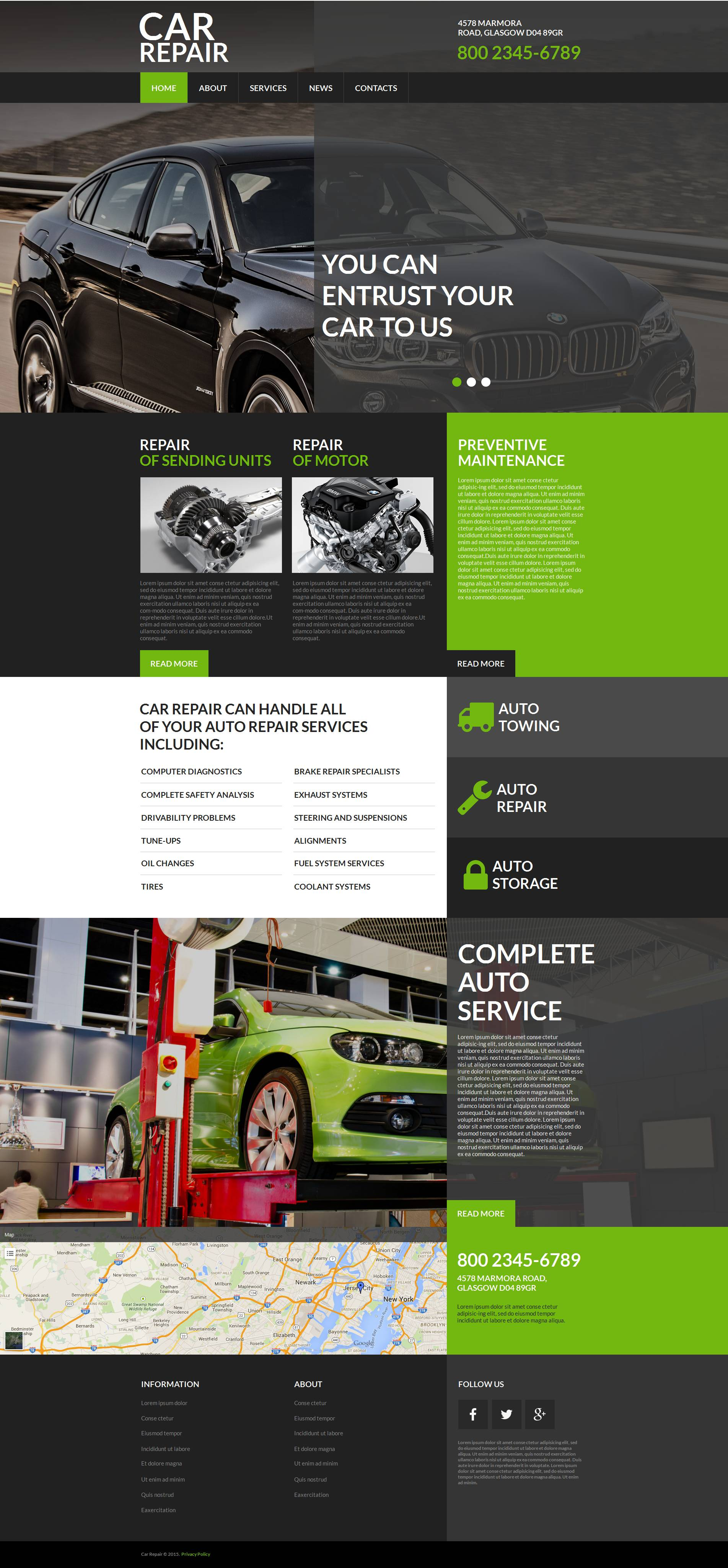MotoCMS HTML шаблон №53635 на тему ремонт авто