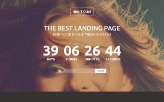 Night Club Responsive Landing Page Template