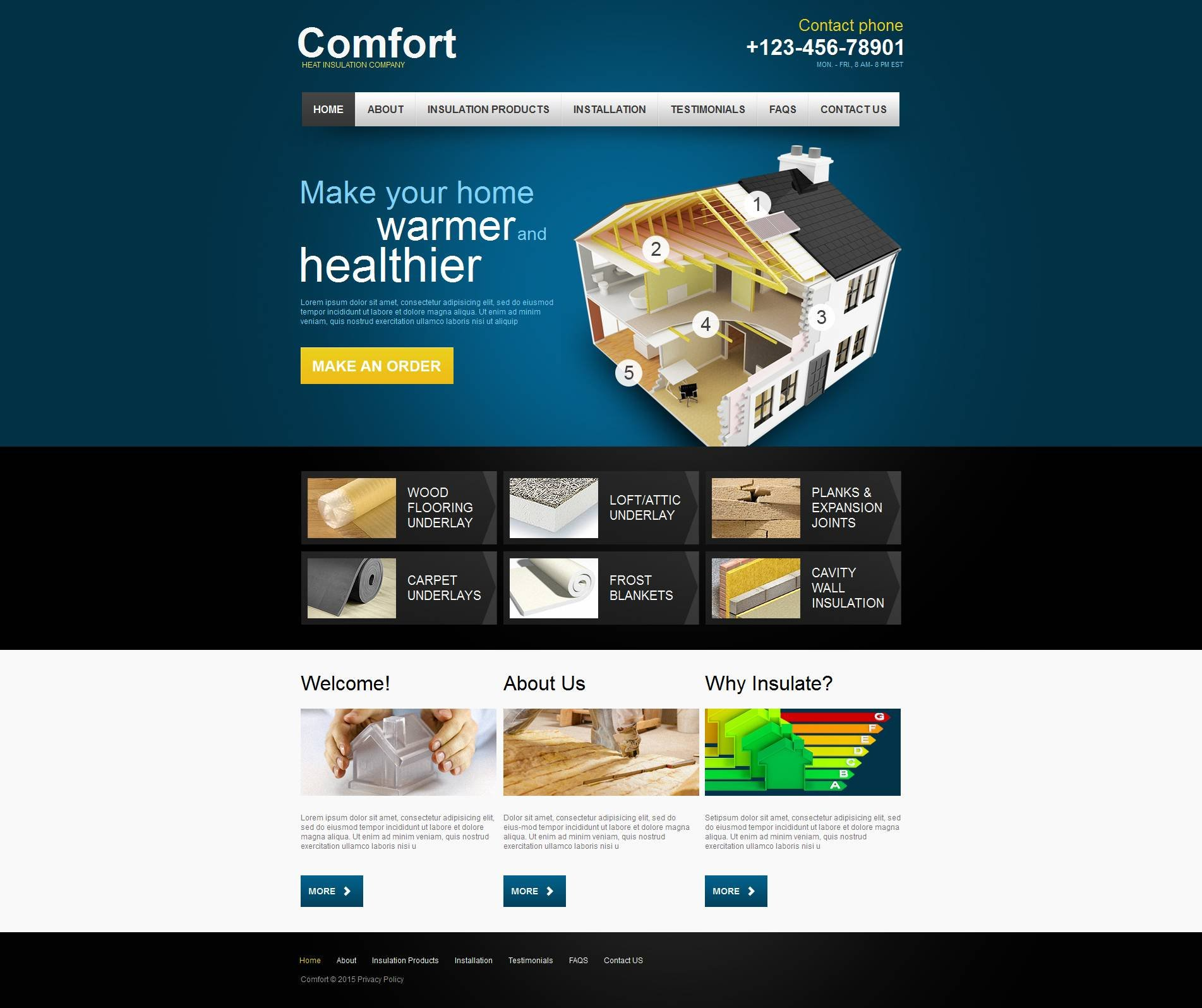 Plantilla Moto CMS HTML #53630 para Sitio de Reparaciones del hogar