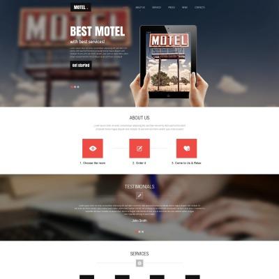 Plantilla Moto CMS HTML #53629 para Sitio de  para Sitio de Moteles