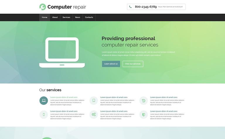 Plantilla Web #53695 para Sitio de Reparación de computadoras
