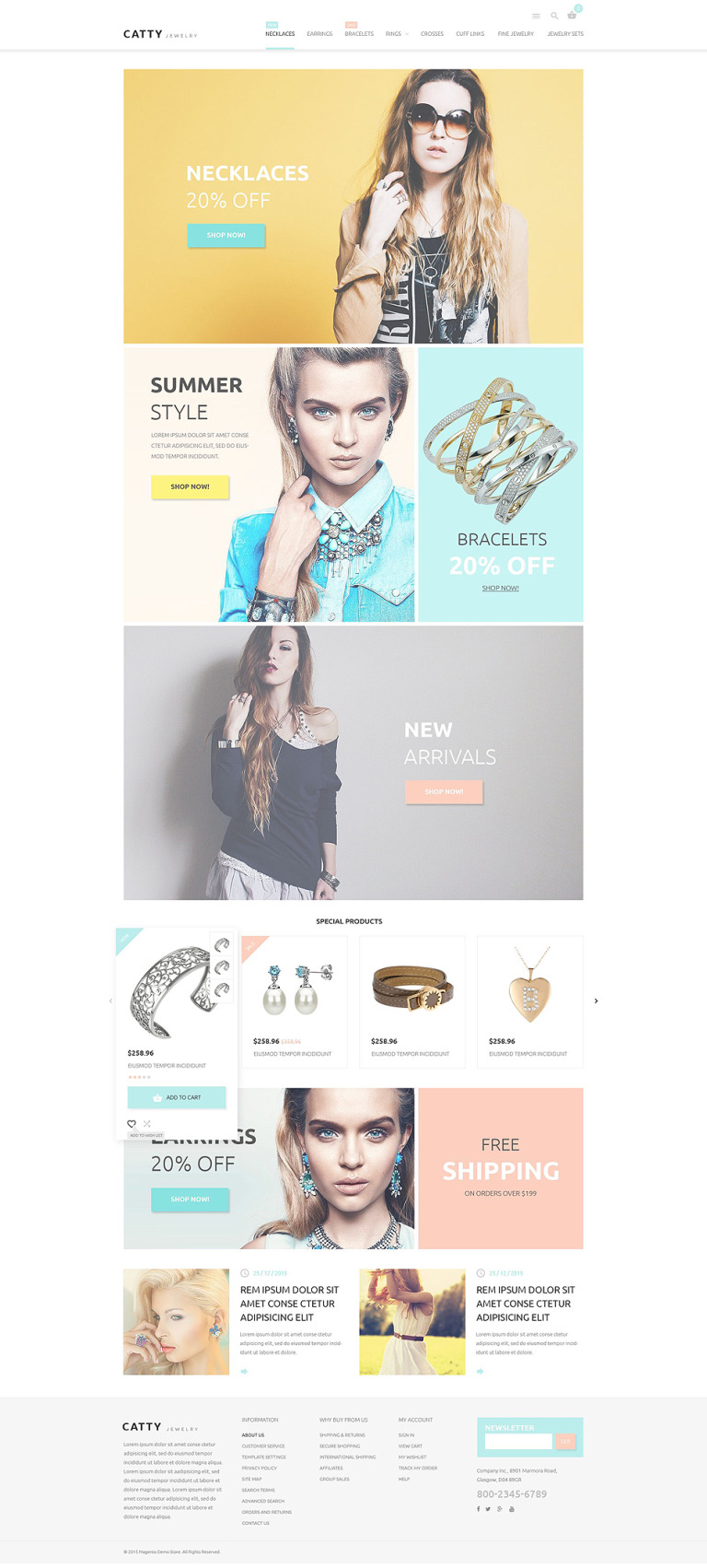 Precious Jewelry Magento Theme New Screenshots BIG