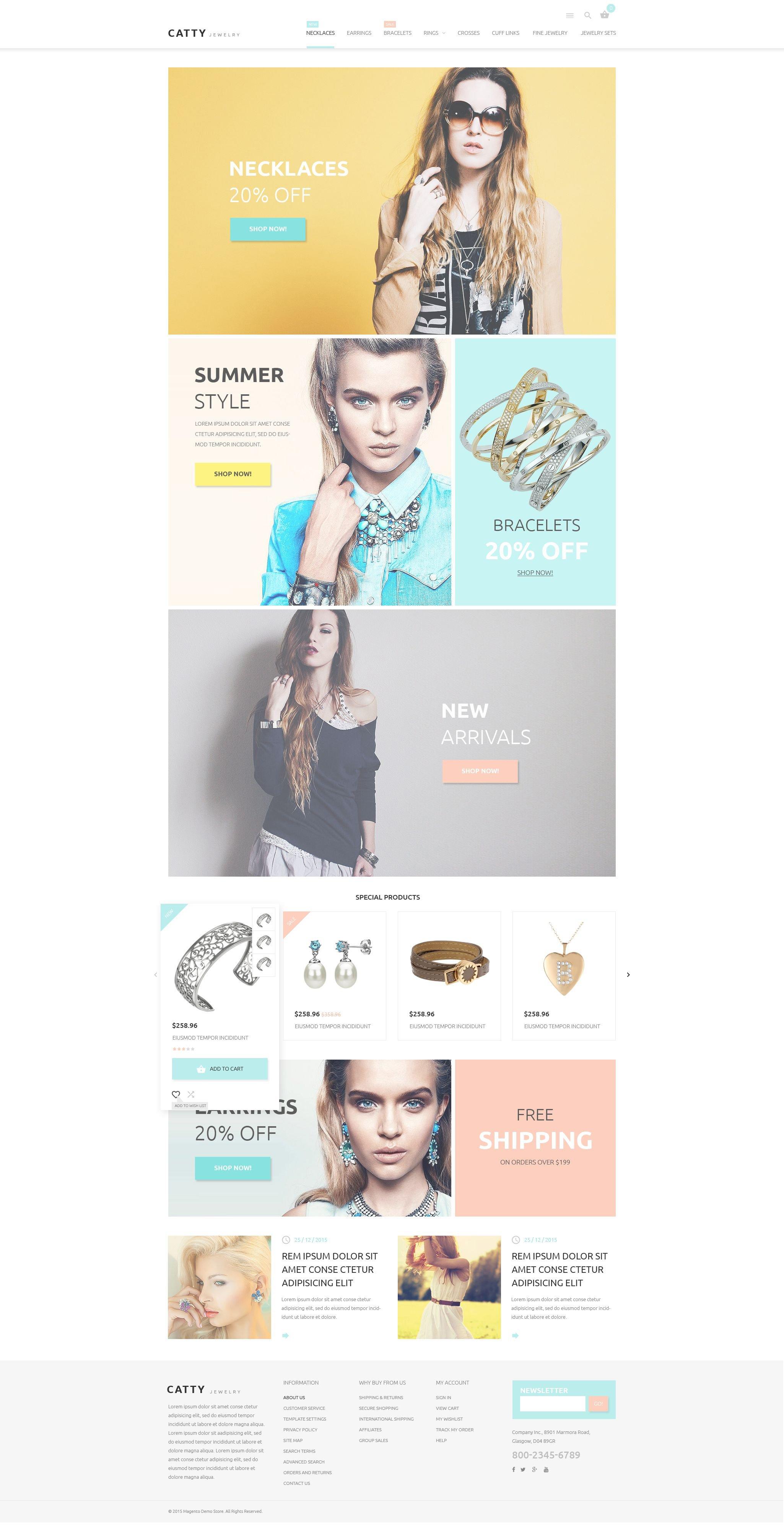 Precious Jewelry Magento Theme - screenshot