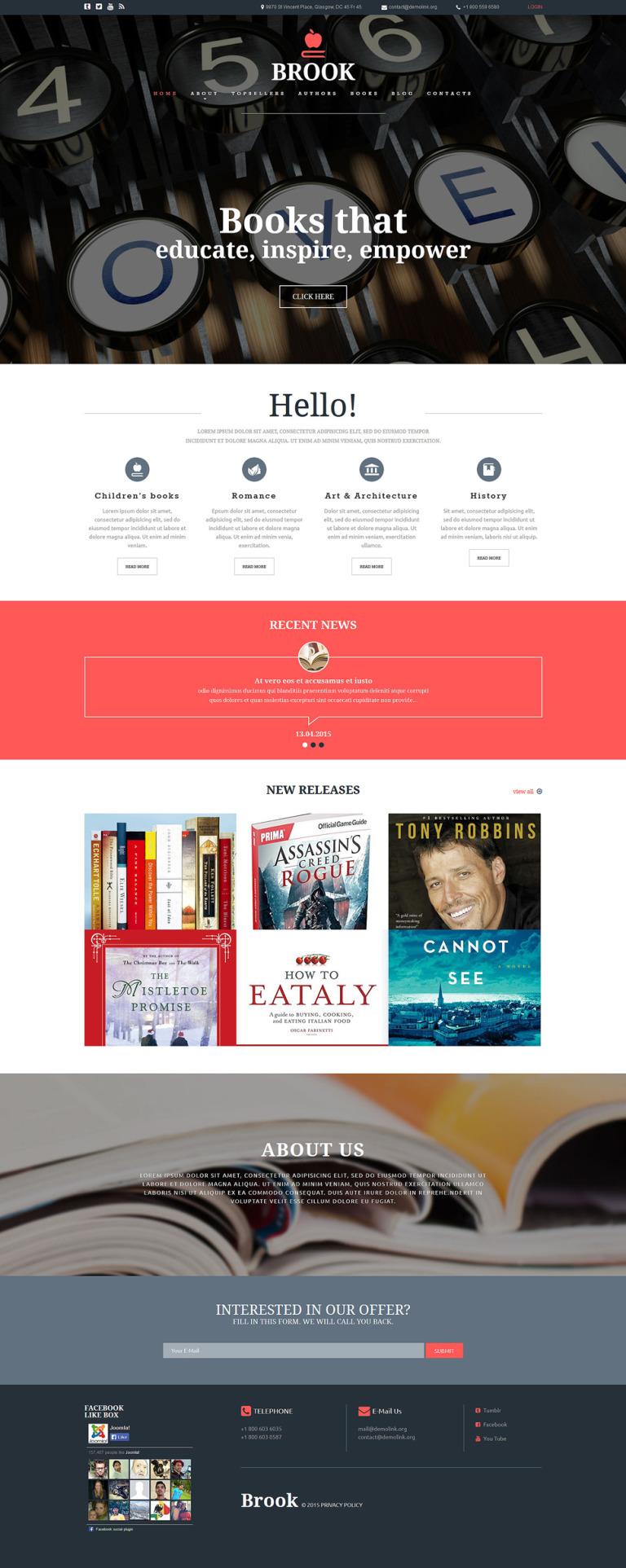 Publishing Company Joomla Template New Screenshots BIG