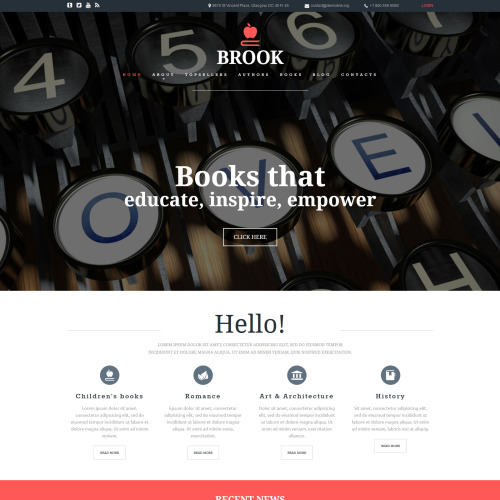 Brook - Joomla! Template based on Bootstrap