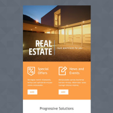 Real Estate Agency Responsive Newsletter Template - Real estate newsletter templates