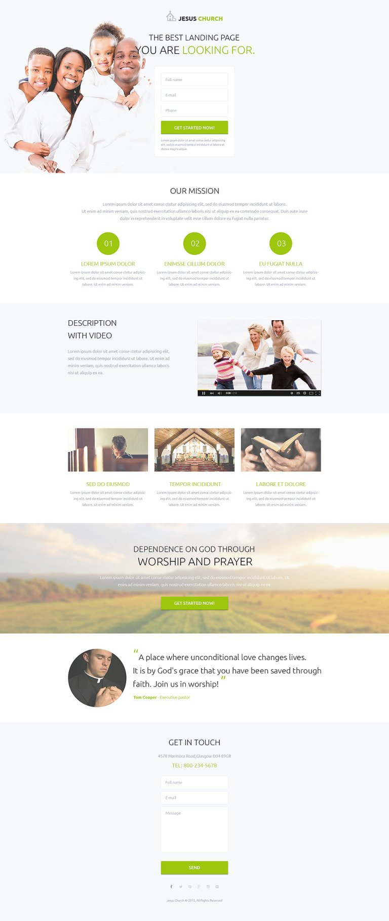Religious Responsive Landing Page Template New Screenshots BIG