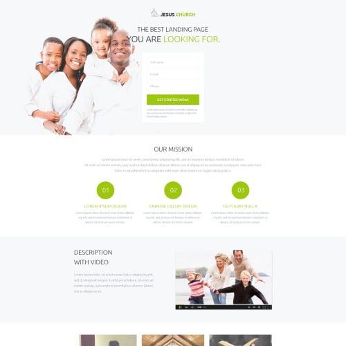 Jesus Church - Responsive Landing Page Template