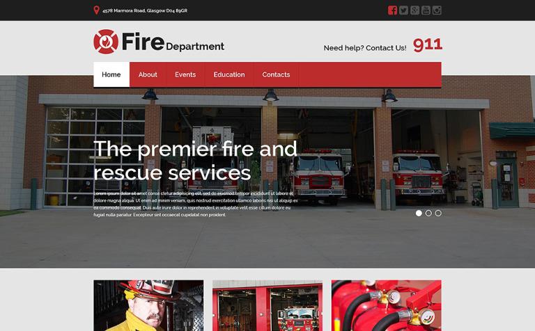Website Vorlage #53642 für Feuerwehr