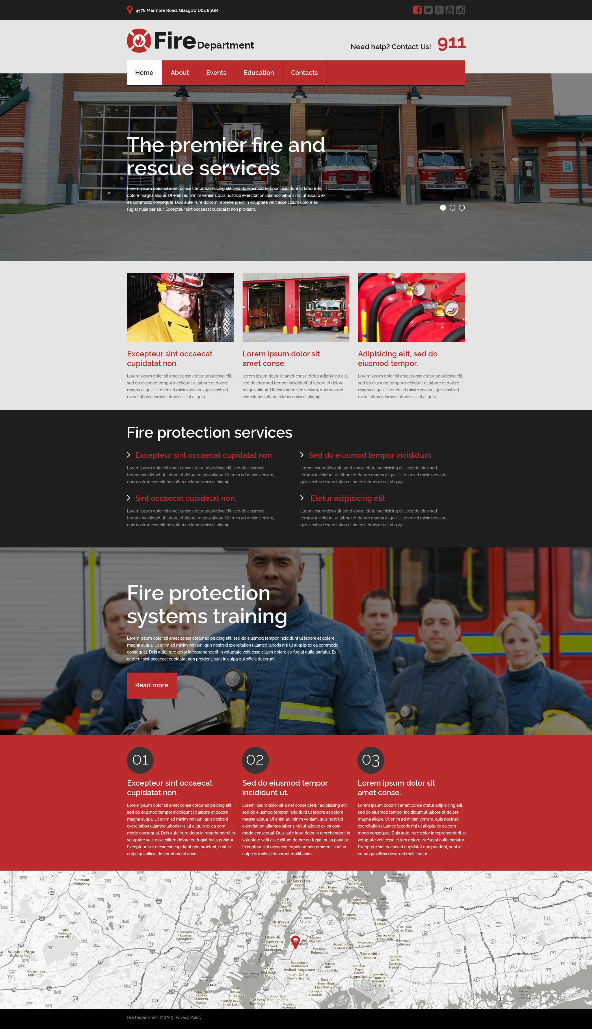 Website Vorlage #53777 für Feuerwehr