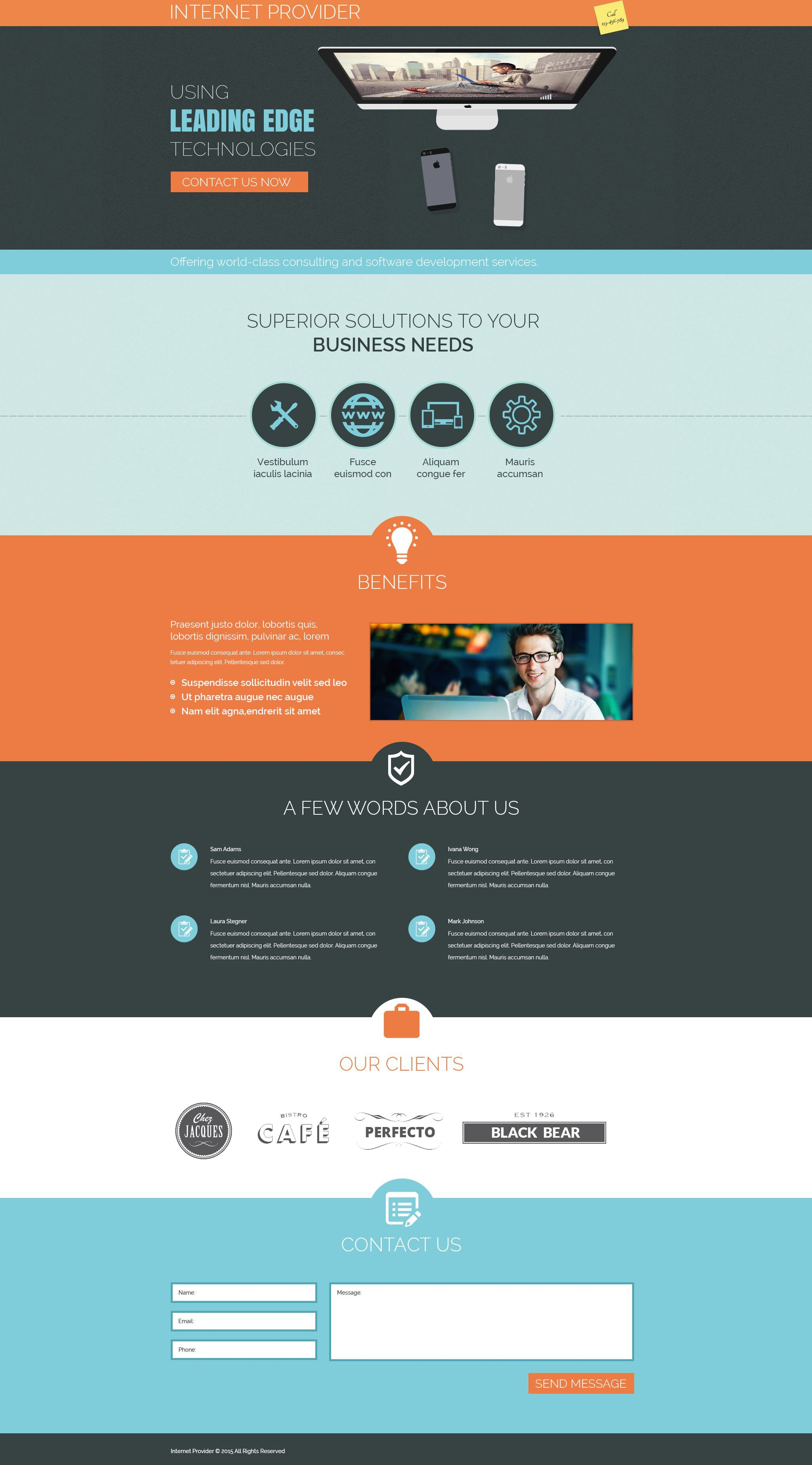 Landing Page Template 53666 Fr Isp