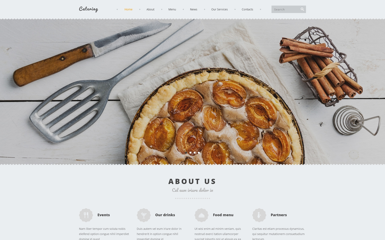 Reszponzív Catering Joomla sablon 53654