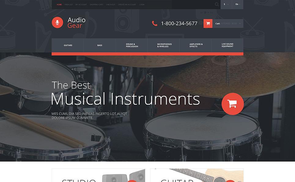Reszponzív Hangáruházak OpenCart sablon New Screenshots BIG