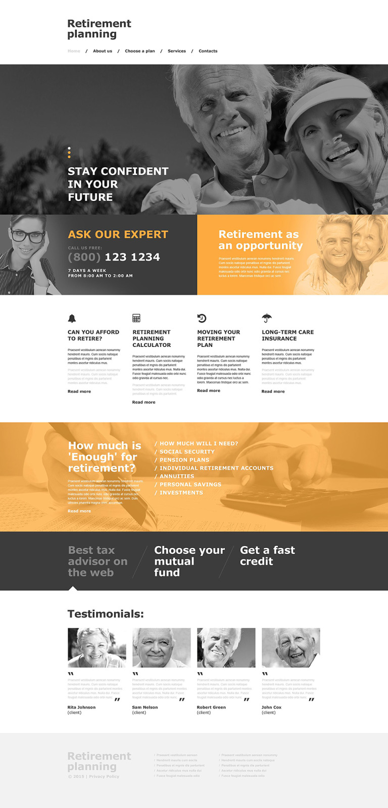 Retirement Planning Muse Template New Screenshots BIG
